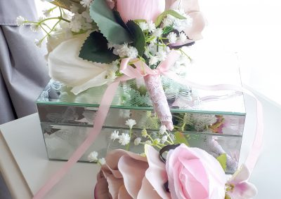 Pretty pink cake toppers