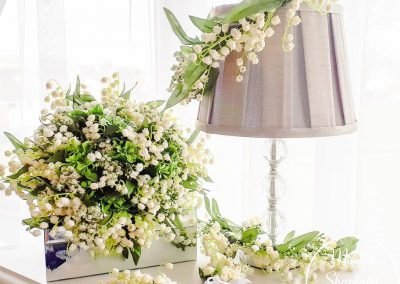 Beautiful Lily of the Valley bridal flowers and made from stunning faux flowers by the lovely Marcia