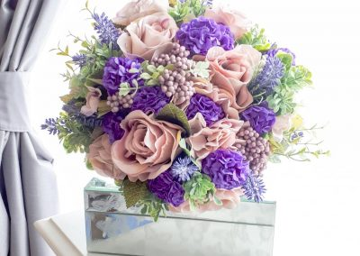 Beautiful vintage pinks and purples for this stunning bouquet by Marcia