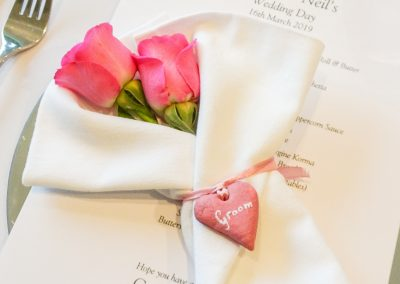 Pretty hearts handmade by Marcia for private dining